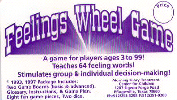 The Feelings Wheel Game  stimulates  verbal and nonverbal expression.